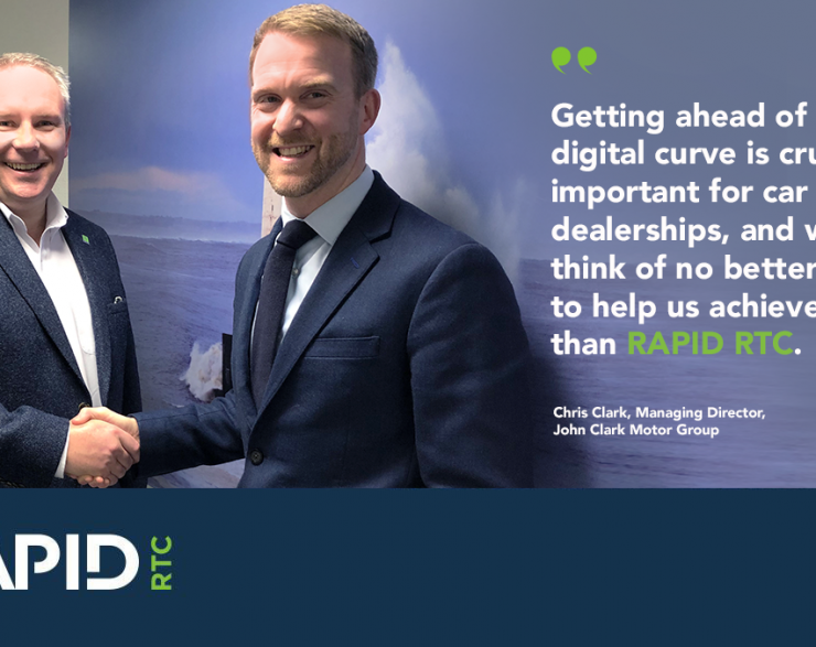 Taking the lead – John Clark Motor Group invests in RAPID RTC's lead management software